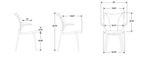 humanscale liberty chair specifications humanscale liberty side chair