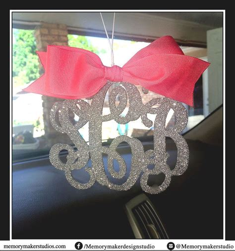 details about glitter rear view mirror charm rearview mirror monogram rearview mirror letters