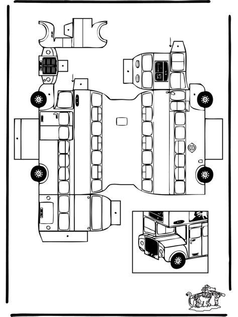papercraft london bus cut