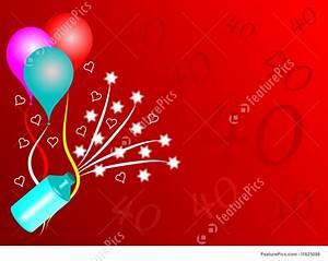 Birthday Invitation Software Celebration Fortieth Birthday Party Background Stock