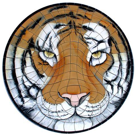 ceramic medallions agape tile tiger face ceramic medallion 36 quot diameter