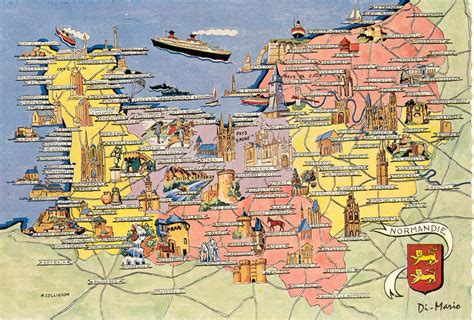 Carte Region Normandie by Carte Touristique De La Normandie R 233 Gion Normandie