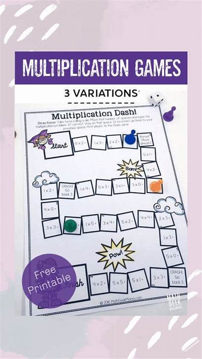 Multiplication Games Printable Math Easy Mathgeekmama Skills