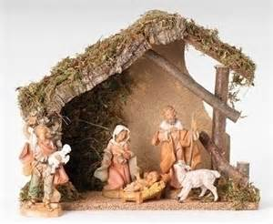 fontanini nativity 5 quot scale figure set with italian stable 5 piece set 54498