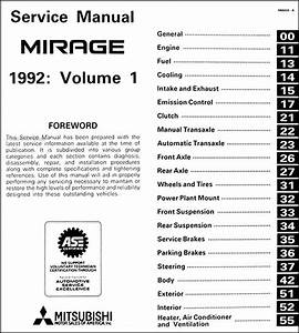 1992 Mitsubishi Mirage Repair Shop Manual Set Original