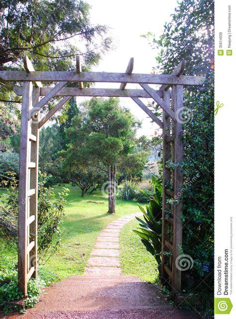 garden gate stock image image  home landscape black