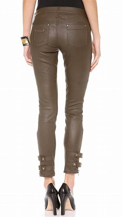 Leather Pants Rachel Zoe Belted Suzie Brown