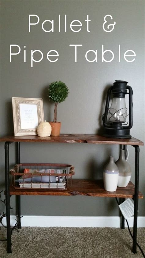 rustic pallet  pipe side table     pallet