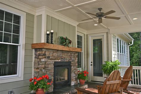 wrap around porches see thru fireplace on rear covered porch in the farms building a quality custom home