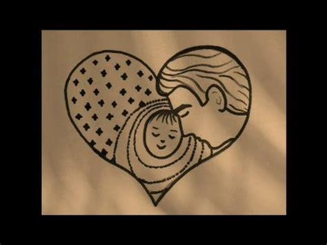 como dibujar  lindo corazon  el papa bien facil
