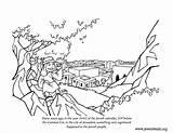 Pages Coloring Chanukah Jewish Chabad Alexander Jerusalem Jews King sketch template