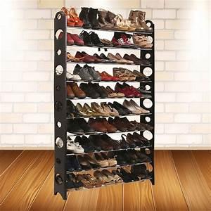 Range Chaussure Metal : etag re range chaussures modulable 50 paires meubles et am nagement ~ Teatrodelosmanantiales.com Idées de Décoration