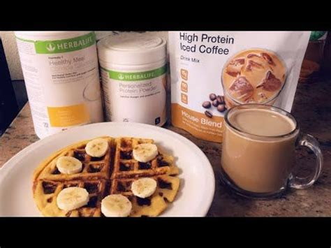 I had an urge for a tim horton's iced cappuccino one day and found this recipe. How To Make A Herbalife Waffle + Herbalife Iced Coffee - YouTube in 2020   Herbalife shake ...