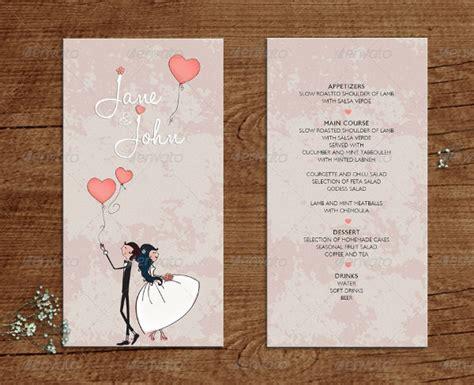 wedding menu examples  word psd ai eps vector
