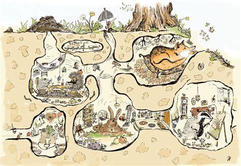 Wohnen Unter Der Erde by Illustration Tier Bildgeschichten Piniek