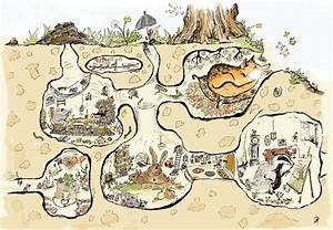 Tiere Unter Der Erde : illustration tier bildgeschichten piniek communication design ~ Frokenaadalensverden.com Haus und Dekorationen