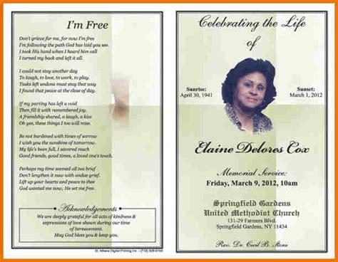 Free Obituary Template by Free Obituary Template Cyberuse