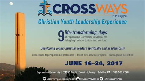 crossways  christian youth leadership experience