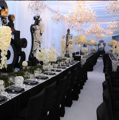 black white wedding decor ideas jamaica weddings