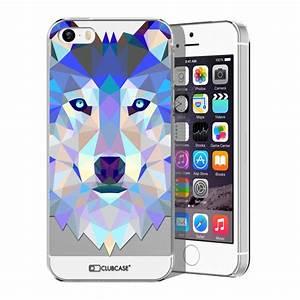 Coque Iphone 5 : coque crystal iphone 5 5s se extra fine polygon animals loup ~ Teatrodelosmanantiales.com Idées de Décoration