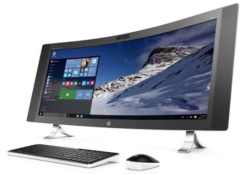 ordinateur de bureau hp windows 7 hp lance monobloc 34 quot à écran courbe macgeneration