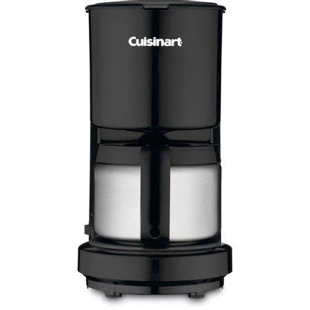 If you are a coffee lover, the cuisinart 4 cup coffee maker might be the right size for you. Cuisinart 4-Cup Coffeemaker with Stainless Carafe DCC-450BK - Walmart.com