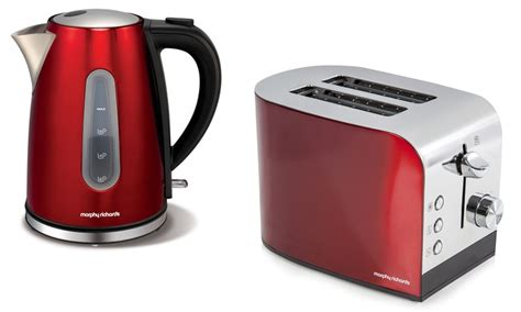 morphy richards toaster and kettle kettle and toaster set groupon goods