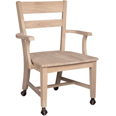 mission dining side chair  casters