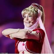 Barbara Eden  78  back into her I Dream of Jeannie crop-top and harem      Barbara Eden Today