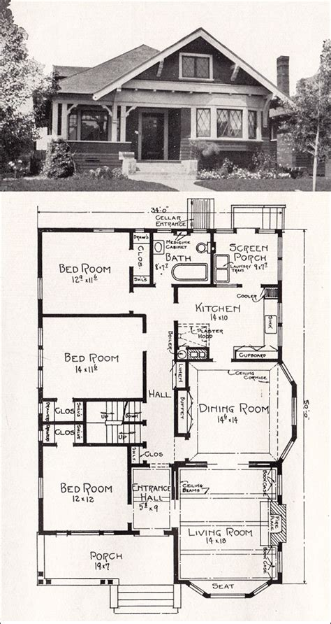 bungalow home plans vintage craftsman house plans vintage bungalow floor plans