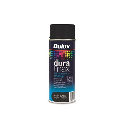Dulux Duramax 340g Satin Spray Paint  Black Bunnings