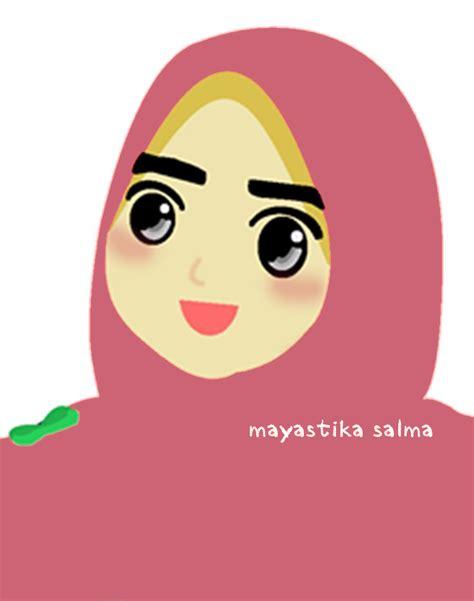 gambar kartun muslimah  foto profil gambar kartun