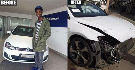 Moreki hit maker King monada smashed his vrr phaa golf 7 gti this morning   Mzansi Stories