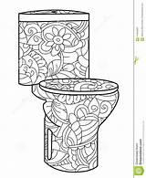 Toilet Flush Antistress Astrakan Coloritura Toilette Adulto Sciacquone Modello Della Kleurplaten Mandala Coloring Clipart Astrakhan sketch template