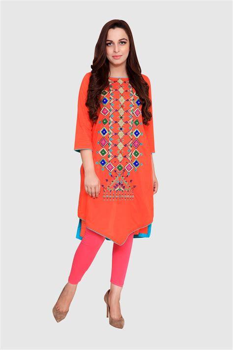 rang ja trendy eid colorful kurti dresses   collection