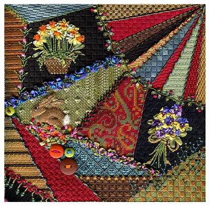 Quilt Crazy Quilting Stitches Quilts Embroidery Needlepoint