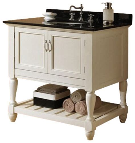 White Country Bathroom Vanity by Vevila White Finish Wood Country Style Wash Basin Sink And