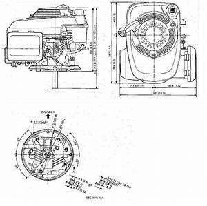 Honda Vertical Engine 4 4 Net Hp 160cc Ohc 7  8 U0026quot  X 3 32 Hf  Gcv160