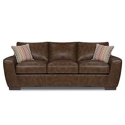 simmons 174 tonto espresso sofa at big lots decor