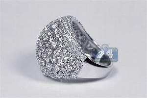 womens luxury 4 03 ct dome ring 18k white gold