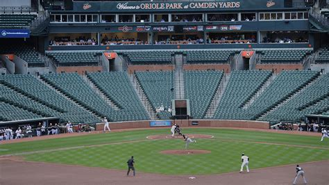 baltimore orioles win first ever closed door mlb game