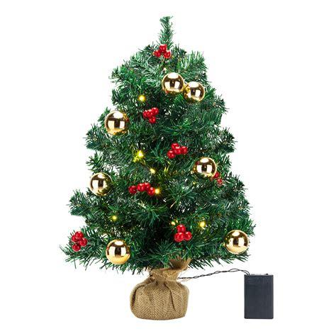 small led christmas tree tabletop artificial small mini tree w led light ornaments ebay