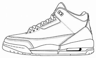 Jordan Air Retro Coloring Sketch 5lab3 Shoe