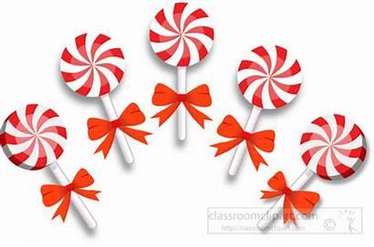 Candy Peppermint Christmas Clipart Sticks Lollipop Cane