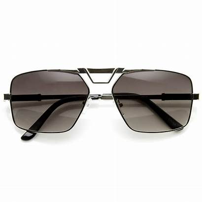 Sunglasses Square Aviator Metal Mens Frame Gq