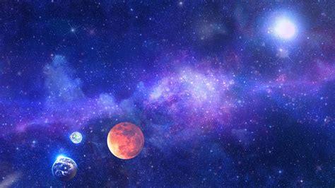 Digital Art, Universe, Space, Stars, Planet, Glowing