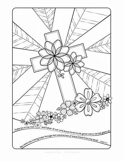 Coloring Easter Religious Printable Worksheets Educativeprintable Via