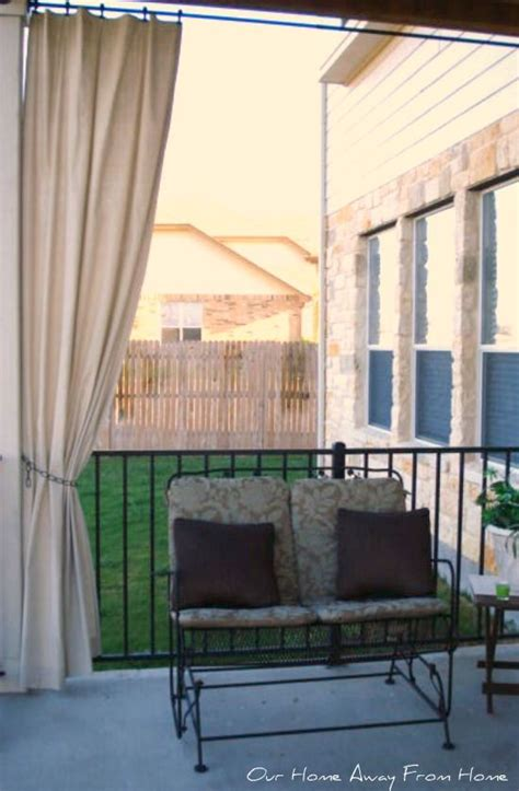 no sew canvas drop cloth outdoor curtains outdoor garden