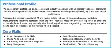 What To Say In Profile Of Resume by How To Write A Personal Profile For Your Resume 5