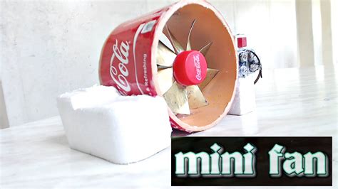 how to make a mini electric table fan easy way science fair project